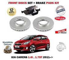 FOR KIA CARENS 1.6i 1.7 CRDI 2011-> NEW FRONT BRAKE DISCS SET + DISC PADS KIT