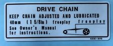 HONDA CR500R DRIVE CHAIN CAUTION WARNING DECAL
