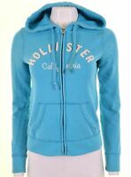 HOLLISTER Womens Hoodie Sweater Size 10 Small Blue Cotton  JO15