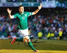 Robbie Keane Signed 10X8 Photo IRELAND EIRE Genuine Signature AFTAL COA (1157)
