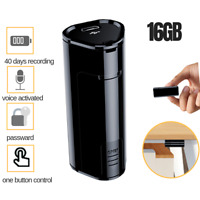 2019 Hidden Digital Voice Activated Recorder Audio Recording Device 16GB US
