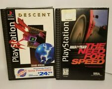 The Need for Speed & Descent Long Box Versions for Sony PlayStation 1 PS1