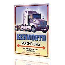 METAL SIGN KENWORTH W900 Poster #8 Truck Collectors PARKING ONLY Decor Garage