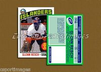 Glenn Resch - New York Islanders - Custom Hockey Card  - 1975-76