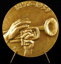 Médaille Sidney Bechet compositeur Jazzman Jazz music composer sc J Hardy Medal