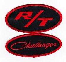 DODGE CHALLENGER R/T BLACK RED SEW/IRON ON PATCH BADGE 440 392 HEMI 383 MAGNUM