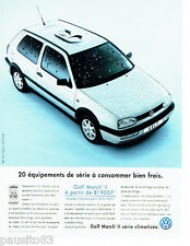 PUBLICITE ADVERTISING 026  1997  Volkswagen Golf Match II