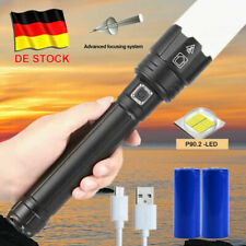 Taktisch Taschenlampe 9000000LM Zoombar XHP90.2 LED Wiederaufladbar 26650 Akku