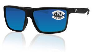 Costa Del Mar Rinconcito Matte Black Blue Mirror 580 Glass Polarized Lens