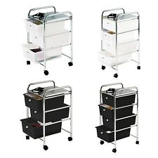 Premier Housewares 3 Drawer Storage Trolley With Chrome Frame