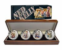 2015 NED KELLY STORY 4 Silver Proof Coins in Presentation Case