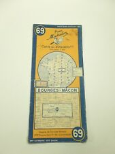Carte michelin N°69 BOURGES-MÂCON 1948/collector BIBENDUM ancien et vintage