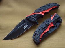 Couteau Tactical Urban Mtech A/O Lame Acier Carbon Manche Alu Black/Red MTA957BR