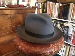 New & Lingwood of Jermyn Street Handmade Grey Felt Fedora Hat