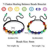 Women 7 Chakra Healing Balance Beads Bracelet Yoga Life Energy Bracelet Jewelry