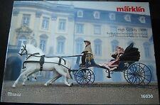 Marklin 16030 High Society Kalesche 1908 met koets, poppen en twee paarden SUPER