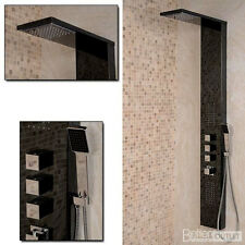 Complete Shower System Modern Wall Mounted Thermostatic Tap Mixer Panel 7009