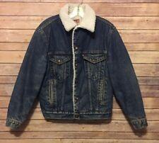 Vintage Levis Sherpa Lined Denim Trucker Jacket 38R USA San Francisco Medium