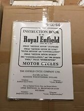 Royal Enfield Instruction Book Various Models (See Description) 56-00184 [3-75]