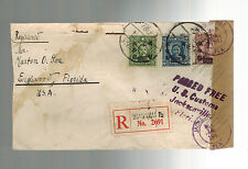 1947 Shanghai China Registered Cover Jewish Ghetto to USA D KAufmann Morton Loa