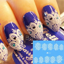 2sheets French Nail Art Water Transfers Decals Stickers Peacock Feather Pattern