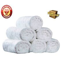 1 DOZEN NEW WHITE 16X27 100% COTTON TERRY HAND TOWELS SALON/GYM  ecotex brand