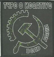 TYPE O NEGATIVE dead again 2007 - WOVEN SEW ON PATCH official - no longer made