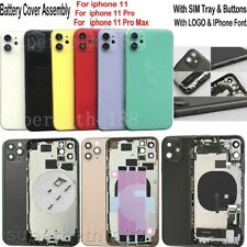 For iPhone 11 11 Pro Max  Back Glass Housing Battery Cover Frame Assembly & LOGO