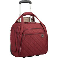 Delsey Quilted Rolling Underseat Tote- EXCLUSIVE 6 Colors Softside Carry-On NEW