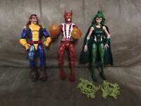 Marvel Legends X-Men lot Sunfire (Warlock Wave), Polaris, Forge LOOSE figures