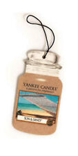 Yankee Candle Car Jar Air Freshener Fragrance-Infused Paperboard, Sun & Sand
