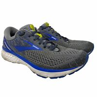 Brooks Mens Ghost 11 Gray Blue Running Shoes Lace Up Size 13 D