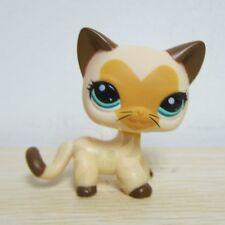 Littlest Pet Shop LPS Figure Toys Heart Face Tan Short Hair Cat Brown Ears Rare