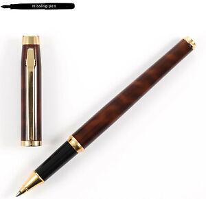 Older Elysee En Vogue Rollerball Pen in Laque Brown Marble (1990's)