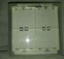 Clear plastic white Game Case Holder For Nintendo DS Holds 16 Games