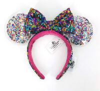 Rainbow Disneyland Sparkle 2020 Minnie Ears Disney Parks Confetti Star Headband