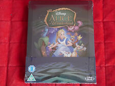 NEW SEALED Blu-ray Region A B C Disney Alice in Wonderland Steelbook