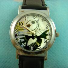 Halloween Nightmare Before Christmas Jack Wrist Quartz Watch Wristwatch + Badge