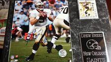 Drew Brees New Orleans Saints signed Plaque +coa