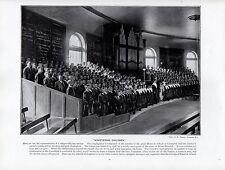 1897 impresión VICTORIANO ~ ~ Liverpool Bluecoat Escuela Servicio llevada a cabo por los niños