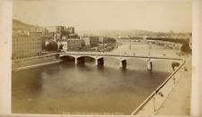 France Lyon Vue sur La Saône et le pont de Tilsitt Vintage albumen print, Tira