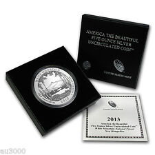2013-P ATB WHITE MOUNTAIN 5 OZ. SILVER SPECIMEN COIN BOX COA SOLD OUT at MINT !!