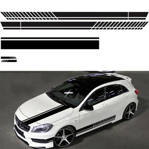 5x Car Body Hood Rearview Mirror Decal Stripes Stickers Universal Racing look