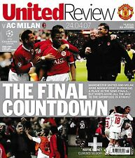Football programme > Man Utd V AC Milan AVR 2007 UCL semi-final