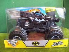 BATMAN Monster Jam 1/24 diecast Metal Body HOT WHEELS Batmobile DC Comics ~NEW~