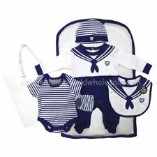 Baby Boy Girl Layette sleepsuit 5 piece set sailor Rock a bye Newborn 0-3 3-6 m