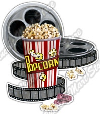 "Movie Theater Popcorn Film Reel Cinema Car Bumper Vinyl Sticker Decal 4""X5"""