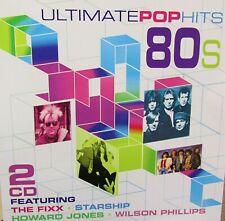 Ultimate pop hits 80's New 2 Cd,The Fixx,Starship,Motels,Wang Chung,Eddie Money