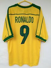 BRASIL 1998 1999 2000 WORLD CUP NIKE FOOTBALL SOCCER SHIRT JERSEY RONALDO
