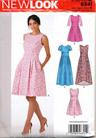 NEW LOOK SEWING PATTERN 6341 MISSES 6-18 FLARED DRESS W/ PRINCESS SEAMS & MAXI